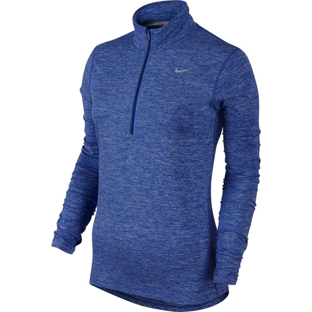 Buy Women 39 S Nike Element Zip Long Sleeve Tee In Blue Run