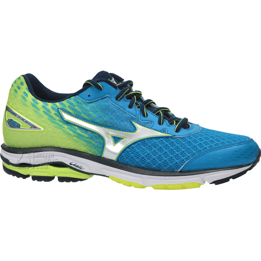 buy men 39 s mizuno wave rider 19 in blue run and become specialist running shop london. Black Bedroom Furniture Sets. Home Design Ideas