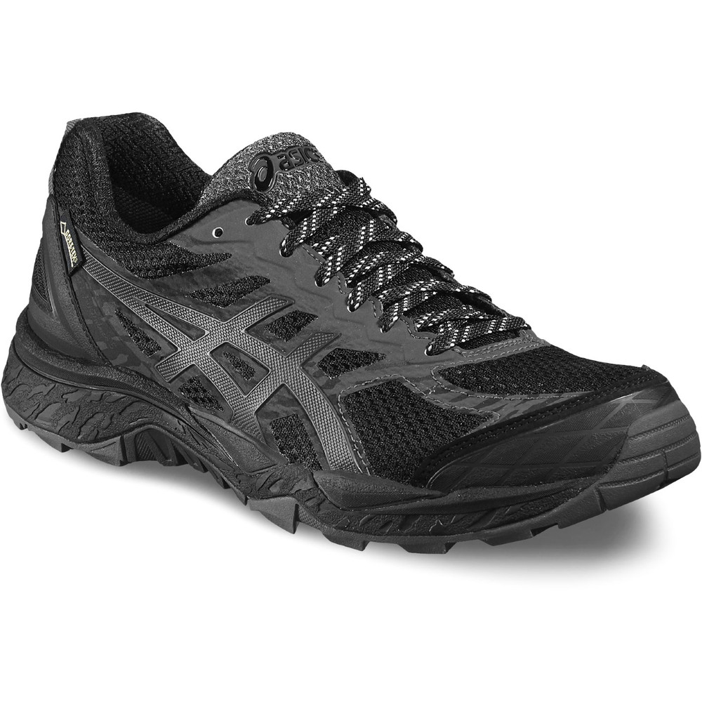buy women 39 s asics gel fuji trabuco 5 gtx in black run. Black Bedroom Furniture Sets. Home Design Ideas